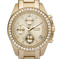 Fossil Crystal Topring Watch, 38mm