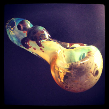 Turtle Critter Hand Blown Glass Pipe