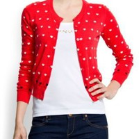  Mango Women&#x27;s Heart Knit Cardigan