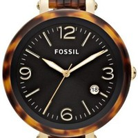 Fossil Heather Three Hand Resin Watch - Tort Jr1406