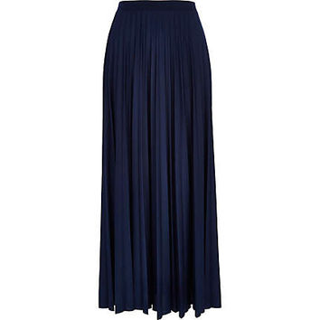 river island womens navy blue pleated from river island