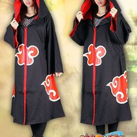 Japanese Anime Naruto Cosplay Costume - Akatsuki Ninja Uniform / Cloak For Kids Small