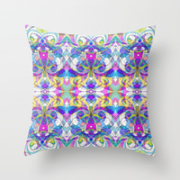 Indian Style G161 Throw Pillow by MedusArt