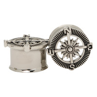 Steel Compass Eyelet Plug 2 Pack