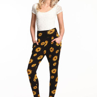 SUNFLOWERS HAREM PANTS