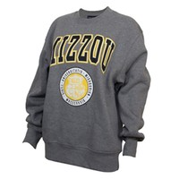 The Mizzou Store - Mizzou Seal Puff Ink Graphite Grey Crew Neck Sweatshirt
