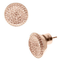Michael Kors Pave Stud Earrings, Rose Golden