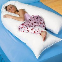 "Oversized 20 x 130"" - Total Body Pillow - Full Support - Super Soft Flocked Nylon - Made in USA - 1 Year Warranty"