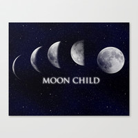 Moon Child Stretched Canvas by DuckyB (Brandi)