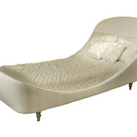 Leather single bed RHODIUM by Visionnaire | design Samuele Mazza
