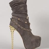 SPIKED HEEL BOOTS
