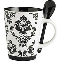 Damask Mug with Spoon