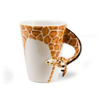Giraffe Handmade Coffee Mug (10cm x 8cm)