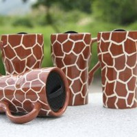 "GIRAFFE Ceramic Mug 6-1/4""H, 81698 by ACK"