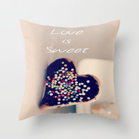Love is Sweet  - JUSTART © Throw Pillow by JUSTART