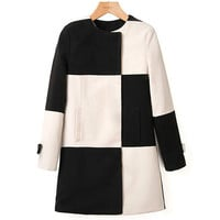 Black and White Colour Block Coat from Pop and Shop