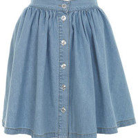 Light Wash Denim Skater Skirt - Skirts  - Apparel  - Miss Selfridge US