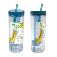 Fruit Infuser Water Bottle by D'Eco (Blue)