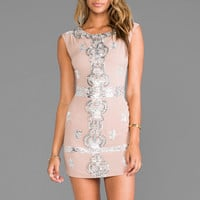 renzo + kai Laura Sequin Dress in Blush