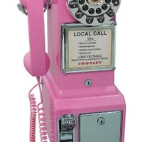 Crosley 1950s Pay Phone Color: Pink (CR56-PI)