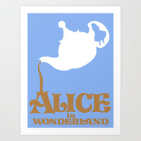 Alice in Wonderland Art Print by Citron Vert