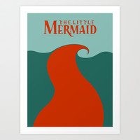 The Little Mermaid Art Print by Citron Vert