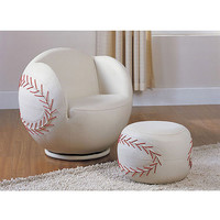 Acme 05528 2-Piece All Star Set Chair and Ottoman, Baseball