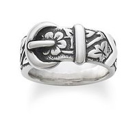 Floral Belt & Buckle Ring: James Avery