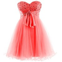 Dresstells Sweetheart Cocktail Short Prom Dress Sweet 16 for Girls with Satin Sash