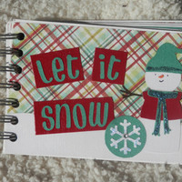 4x6 Chipboard Snowman Scrapbook Photo Album