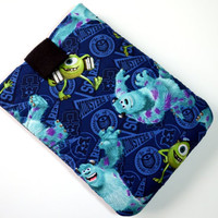 Hand Crafted Tablet Case From Licensed Monsters University Fabric/Case for iPad, Kindle Fire HDX, iPad Mini, iPad Air, Samsung Galaxy Tab