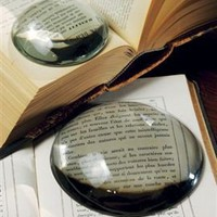 Recycled Glass Magnifying Lenses (Set of 2)