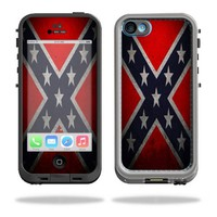 Protective Vinyl Skin Decal Cover for LifeProof iPhone 5C Case fre Case Sticker Skins Rebel Flag