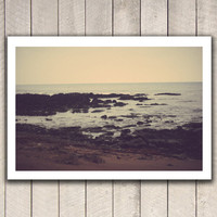 Fine art photography, beach photography, ocean photography, beach art, California coast sea film ocean vintage hipster wall art decor