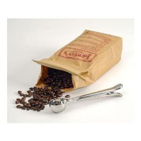 Stainless Steel Coffee Scoop & Clip Measure: Kitchen & Dining