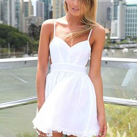 LADY LUCK DRESS , DRESSES, TOPS, BOTTOMS, JACKETS & JUMPERS, ACCESSORIES, 50% OFF SALE, PRE ORDER, NEW ARRIVALS, PLAYSUIT, COLOUR, GIFT VOUCHER,,White,CUT OUT,BACKLESS,SLEEVELESS Australia, Queensland, Brisbane