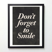 Motivational quote print poster Don't forget to by NeueGraphic