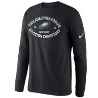 Nike Philadelphia Eagles 2013 NFC East Division Champions Long Sleeve T-Shirt - Black
