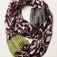 Open Weave Patch Infinity Scarf