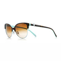 Tiffany & Co. - Tiffany Locks cat eye sunglasses in tortoise and Tiffany Blue® acetate.