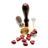 Burgundy Heart Shape Sealing Wax for Wax Seal Stamp