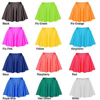 Skating Skirts Skater Skirt Roller Ice Dance Childrens Adults Lycra All Colours