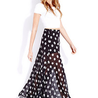 Retro Daisy Maxi Skirt