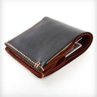 Bison Leather Bi-Fold Wallet