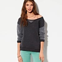 AEO 's Mixed Fleece Sweatshirt
