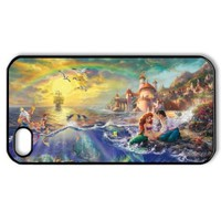 Romantic Beautiful Ariel The Little Mermaid Hard Printed Case Protector for iPhone 4,4s