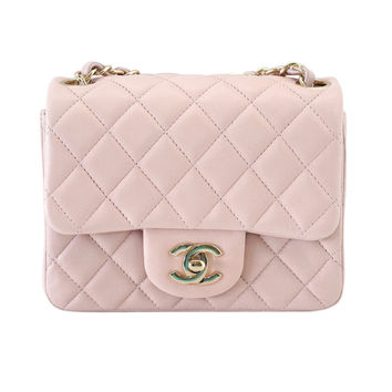 CHANEL bag whisper pink mini lambskin soft gold hardware NWT / box