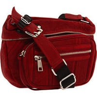 L.A.M.B. Calico Messenger (Crimson) - L.A.M.B. Handbags