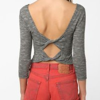 Sparkle &amp; Fade Bow-Back Crop Top