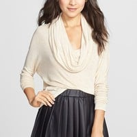 Living Doll 'Baby Hatchi' Draped Cowl Neck Pullover(Juniors) | Nordstrom